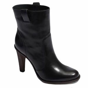 Cole Haan genuine leather pull on heeled booties